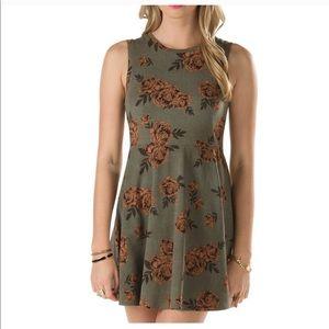 Vans • green flower dress